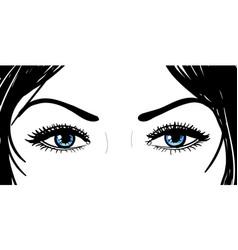 girl eyes vector image