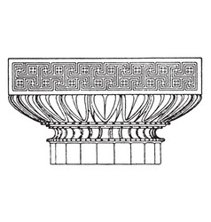 Graeco-doric capital an antique design vintage vector