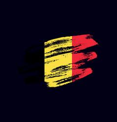 grunge textured belgian flag vector image