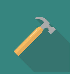 hammer flat design vector image