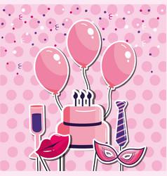 Happy birthday celebration event style vector
