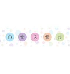 Headphone icons vector