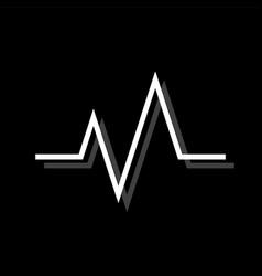 heart beat cardiogram icon flat vector image