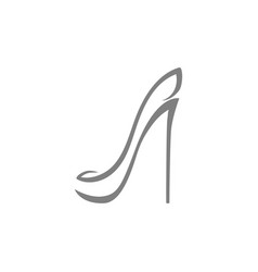 High heel shoe symbol icon on white vector