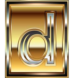 Ingot Font Letter d vector