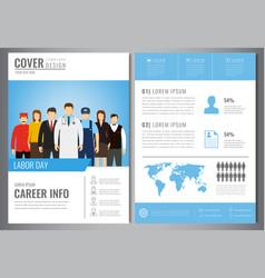 International labor day brochure design template vector