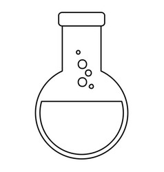 laboratory tube test flask vector image