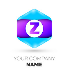 Letter z logo symbol in colorful hexagonal vector