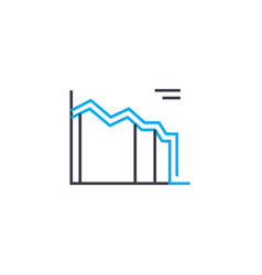 line chart 22 thin line stroke icon line vector image