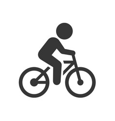 man on bicycle icon vector image