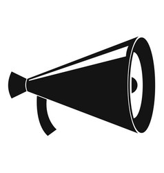 Megaphone with handle icon simple style vector