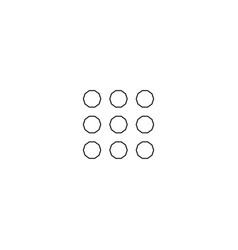 menu more circular line icon round simple sign vector image