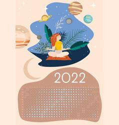 Moon calendar 2022 calm southern hemisphere vector