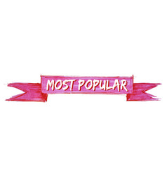 Most popular ribbon vector