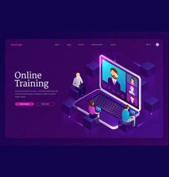 online training digital distance education vector image