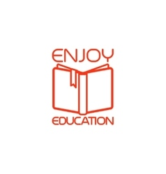 Open book isolated icon vector image