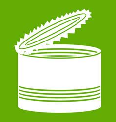 open tin can icon green vector image