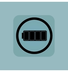Pale blue full battery sign vector