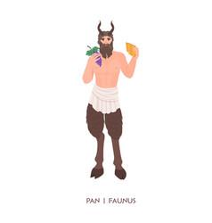 Pan or faunus - god or deity shepherds vector