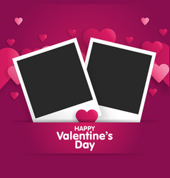 postcard happy valentines day with a blank vector image