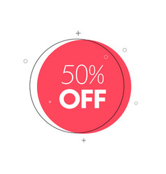 promo banner geometric discount tag vector image