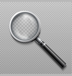 realistic loupe magnifying glass vector image