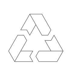 Recycling symbol environmental or ecological vector