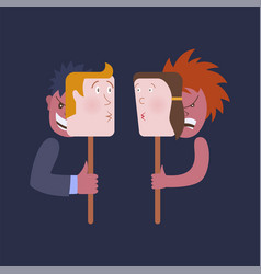 relations between people hypocrisy vector image