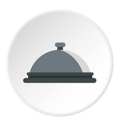 restaurant cloche icon circle vector image