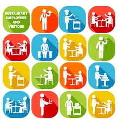 Restaurant employees white vector image