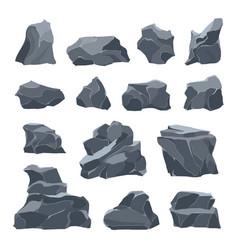 rock stones icon set vector image