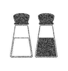 salt and pepper sign black icon from many vector image