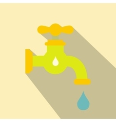 Save water flat icon vector image