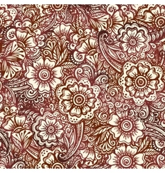 Seamless pattern in Indian henna mehndi style vector image