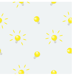 seamless pattern with shining bulbs on simple vector image
