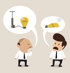 Senior advisor suggest employee to manage problem vector