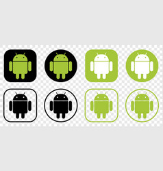 Set android logo vector
