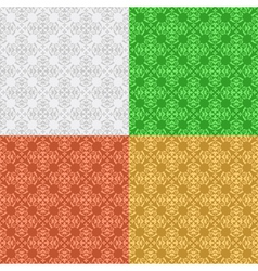 set - decorative seamless patterns vector image
