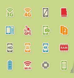 Smarthone specs simply icons vector