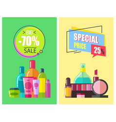 special price big sale color vector image