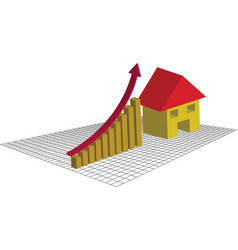 The housing market is going up vector