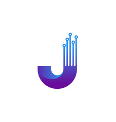 Triangle initial j logo modern design vector
