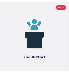 Two color leader speech icon from people concept vector