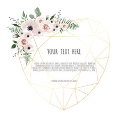 Valentines card on white background with trending vector