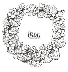 Violets drawing vector image