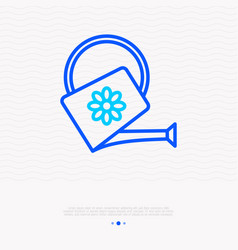 watering can thin line icon vector image