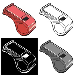 whistle vector image