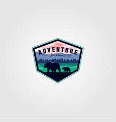 Wilderness adventure vintage logo design vector