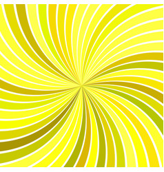 yellow abstract psychedelic striped spiral vortex vector image