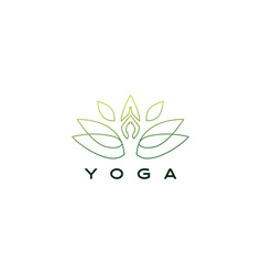 yoga leaf lotus logo icon vector image